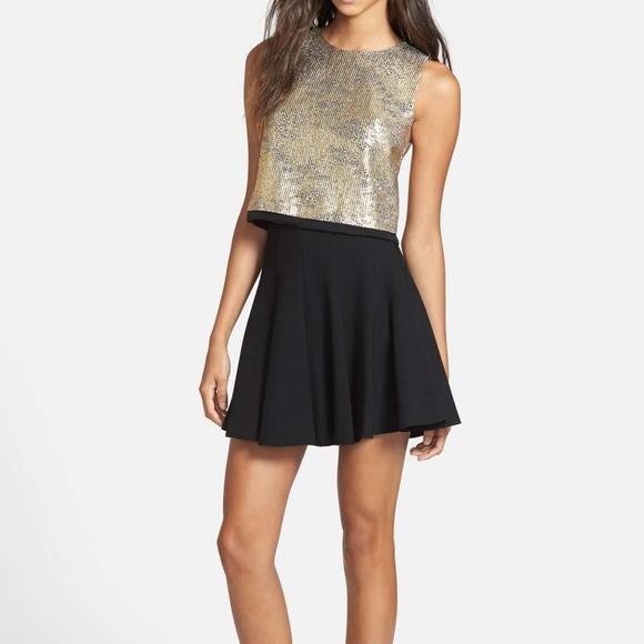 88702576c636 Astr Skirts | Black Ponteknit Pleated Skater Skirt Medium | Poshmark